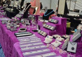 Jewellry stall at Mirfield Show 2015