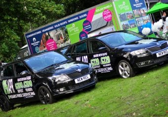 Black cars - a car company exhibiting at the Mirfield Show